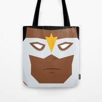 falcon Tote Bags featuring Falcon by Shakeel