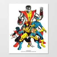 x men Canvas Prints featuring X-MEN by Şemsa Bilge (Semsa Fashion)