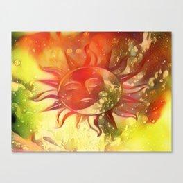 Blissful Sun Moon Canvas Print