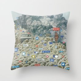 Counting Tweets Throw Pillow