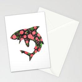 Floral Shark Stationery Cards