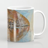 football Mugs featuring Football by Michael Creese