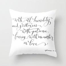 Bearing in Love Throw Pillow