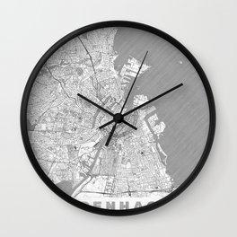 Copenhagen Map Line Wall Clock