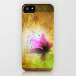 marriage of Titania; Salmon berry floral duet Shakespearean hidden pictures iPhone Case
