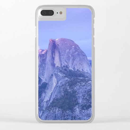 Lavendar Half Dome Clear iPhone Case