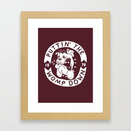 Womp Down Framed Art Print