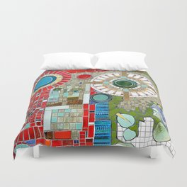 Mosaic Art in Germany Duvet Cover