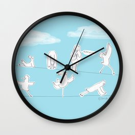 Bird Yoga Wall Clock