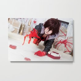 Valentine's Day Shin Metal Print
