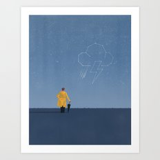 Watching The Skies Art Print