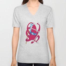 Ninja octopus Unisex V-Neck