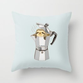 Slopresso Throw Pillow