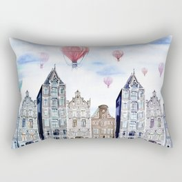 Amsterdam  watercolor Rectangular Pillow