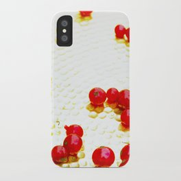 Visitor on a golden plate iPhone Case