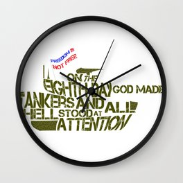 Tankers Wall Clock