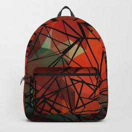An abstract geometric pattern . Favorite 2 . Backpack