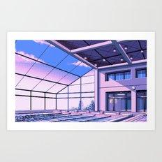 Vaporwave Pool of School Art Print