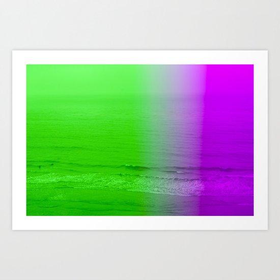 green + purple Art Print