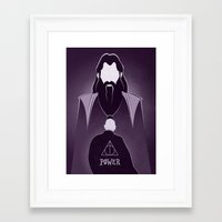 dumbledore Framed Art Prints featuring Dumbledore Tribute.  by LADY2
