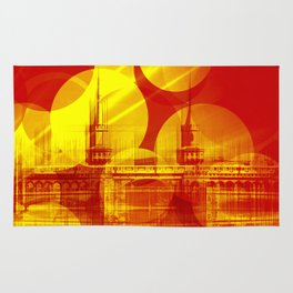 The Oberbaum Bridge  Berlin Collage Rug