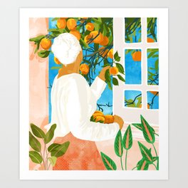 A Few Bad Oranges Is No Reason Not To Bring The Grove Home #painting Art Print