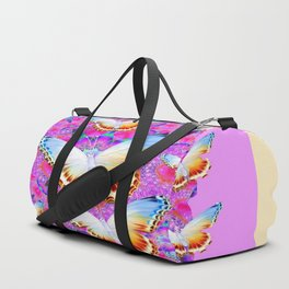 EXOTIC ORIENTAL BUTTERFLIES PINK-YELLOW ART Duffle Bag