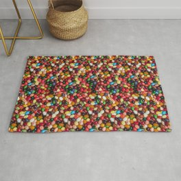 Gourmet Jelly Beans Candy Photo Pattern Rug