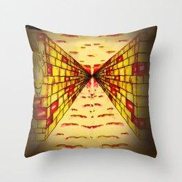 Daedalus Corridor - Theseus Vs The Minotaur - WiNF Studios Throw Pillow
