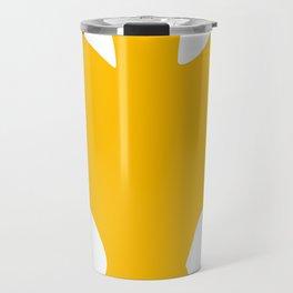 Orange-Yellow Silhouette Of a Bat  Travel Mug