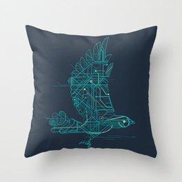Wind-Up Bird Throw Pillow
