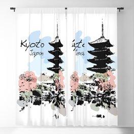 Kyoto Temple Japan Blackout Curtain