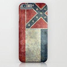 Mississippi State Flag, Distressed version Slim Case iPhone 6s