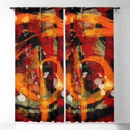 Into the dragon abstract  art Blackout Curtain