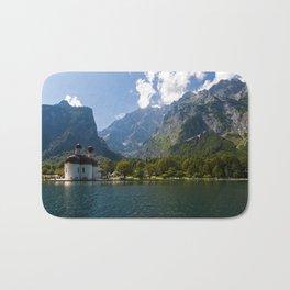 Outdoors, Church, Alps Mountains, Koenigssee Lake Bath Mat