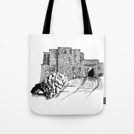 shadow at the top of the hill Tote Bag