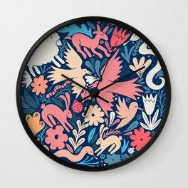 Nursery rhyme garden 002 Wall Clock