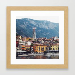 Lake Como by Boat Framed Art Print