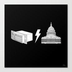 Literal AC/DC Canvas Print