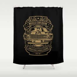 muscle car show american classic legend Shower Curtain