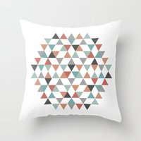hexagon Throw Pillows featuring Hexagon by Pavel Saksin
