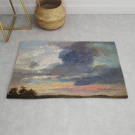 Johan Christian Dahl - Cloud Study Over Flat Landscape - Digital Remastered Edition Rug