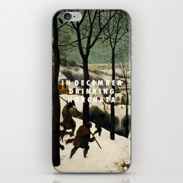 Horchata in the Snow iPhone Skin