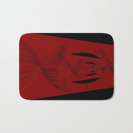 Red Black Bath Mat