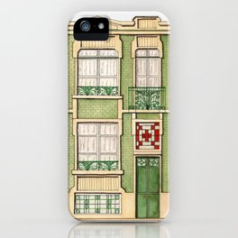 vintage town house iPhone Case
