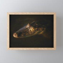 In a golden eye Framed Mini Art Print