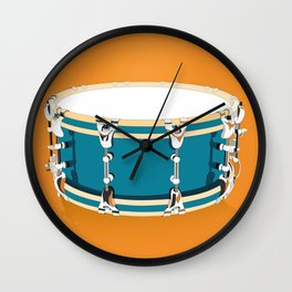 Drum - Orange Wall Clock