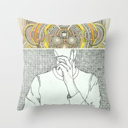 Thought Bubble Throw Pillow