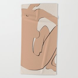 Cool down nude figurative minimalist Beach Towel