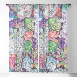 Succulent Garden Sheer Curtain